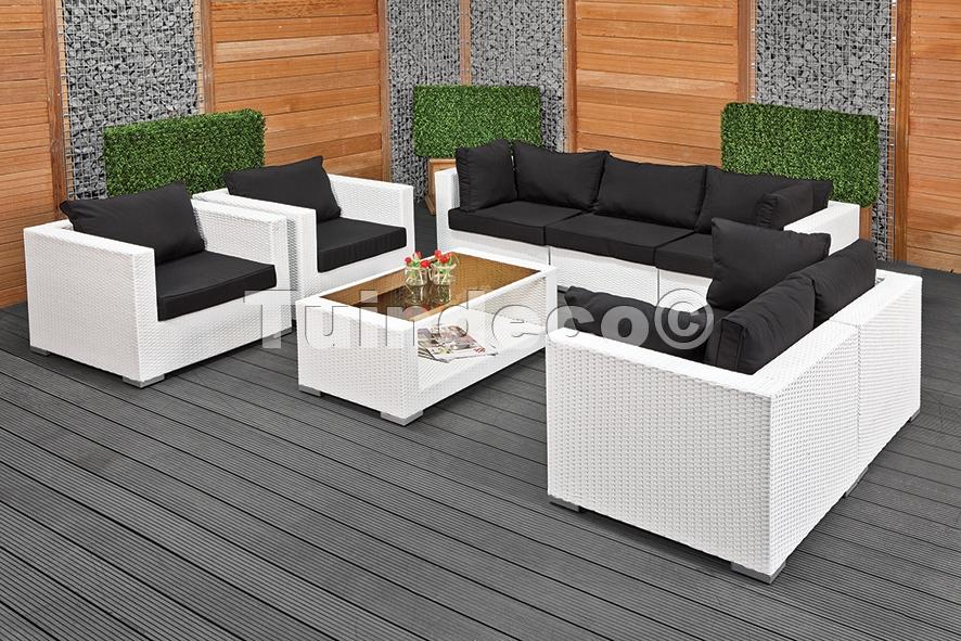 Kussen Wit 15 : Wicker loungeset bergamo wit poelman bestratingen
